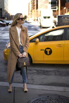 The Balancing Act | Helena of Brooklyn Blonde - Camel Coat: Mackage | Sweater: H&M | Denim: Levis | Mules: Chanel | Handbag: Louis Vuitton Pochette Metis January 30, 2017