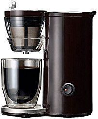 Christmas deals week Recolte Coffee Maker Mini Coffee Machine for Single Solo Kaffe Brown Red SLK-1 (Brown)