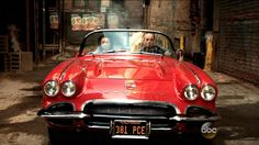 Melinda May & Phil Coulson in Lola from Marvel's Agents of SHIELD