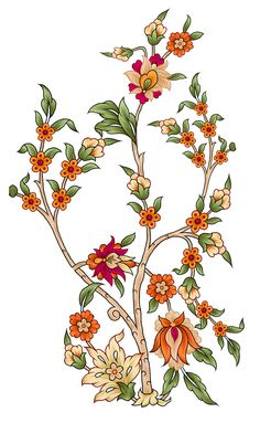 flowers on Behance Islamic Art Pattern, Arabic Pattern, Pattern Art, Beautiful Nature Wallpaper, India Art, Botanical Flowers, Floral Illustrations, Silk Painting, Watercolor Flowers