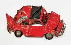 Pressed – Les voitures écrasées de Ron Arad