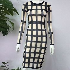 Long Sleeve Sexy Elegant Bodycon Women Summer Evening Celebrity Party Bandage Dress
