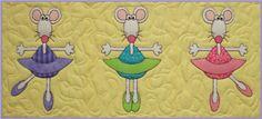 Ballerina Mice Quilt Pattern