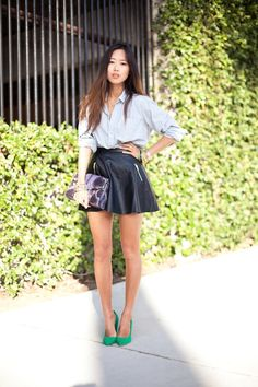 little pops of colors #fashion #streetstyle