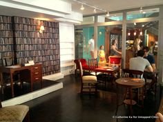 The Carnaby Book Exchange offers a respite from the busy shops of Kingly Court.