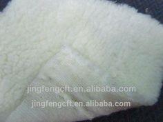 Panda Polar Cationic Fleece Fabric with one side brushed