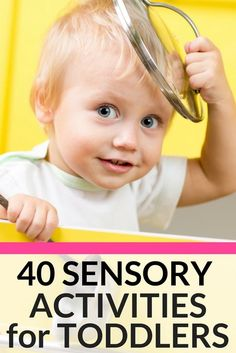 40 Awesome Activities to Engage Your Toddler with Autism If you're looking for activities for toddlers with autism then you're in luck! Check out this list of 40 Awesome Activities to Engage Toddlers with Autism! Perfect for at home or in the preschool setting, I've collected 40 sensory activities for kids with autism and special needs to help them calm down, stimulate their senses and develop social skills. Awesome list of toddler activities! #autism #specialneeds