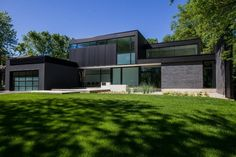 Two storey contemporary Belvedere property designed by Guido Constantino is located in South West Oakville, Ontario, Canada.