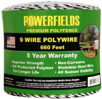 Powerfields 9 Wire HD Polywire for sale online Dog Fence, Stainless Steel Wire, Fences, Electric Fencing, Life, Ebay, Black, Exercise, Electronics