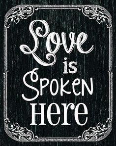 Love is spoken here <3