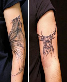 I Create Linear Tattoos Of Animals That Trace People's Veins | Bored Panda