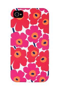 Unikko iPhone 4/4S case by marimekko