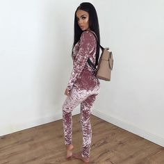 Velvet Tracksuit with our Amelia Backpack!  www.sorelleuk.com