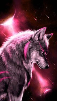 Artwork Lobo, Wolf Artwork, Fantasy Artwork, Wolf Love, The Wolf, Anime Wolf, Mythical Creatures Art, Fantasy Creatures, Galaxy Wolf