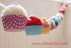 Easy garland in Chinese paper or silk Little bird embroidered easter decor decoration fabric easter home Crafts For Teens To Make, Crafts To Sell, Diy For Kids, Diy And Crafts, Arts And Crafts, Pom Pom Crafts, Yarn Crafts, Felt Crafts, Pom Pom Cupcakes
