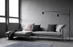 Shop the Blade Sofa and more contemporary furniture designs by Wendelbo at Haute Living. Nordic Furniture, Scandinavian Furniture, Furniture Design, Sofa Design, Lofts, Minimalist Sofa, 5 Seater Sofa, Shelving Design, L Shaped Sofa