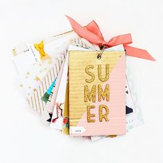 This darling SUMMER themed mini album has me wanting to print all of our photos and get creating! It's from design team member @amandarydell and it's #ontheblog along with lots of photos & product details! #minialbums #recordyourmemories