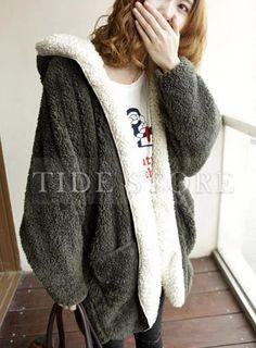 Amazing Hot Sale Hooded Warm Overcoat, Fashion Clothing Online