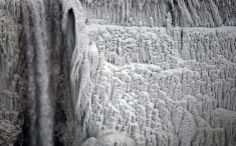 frozen Niagara falls - hurry, go and see before it is too late