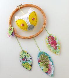 Add a little whimsy to your wall with this ridiculously cute Plush Fox Dreamcatcher. This neat little fiber art wall hanging is handmade from a 6
