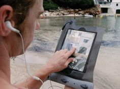 Waterproof Case For iPad: Surf the web while you surf the waves with Aquapacs waterproof case ($60) for iPad 2 and iPad with Retina. Theres a watertight 3.5mm audio jack for plugging in your headphones, and the front and back Lenzflex windows allow you to capture HD photo and video.  — NN