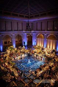 "Wedding reception table setting dance floor decor Breathtaking lighting! Photo by Brian Dorsey Studios, whose photographers has been selected on the ""Top 10 Wedding Photographers in the World"" list. Take a look of their fabulous works."