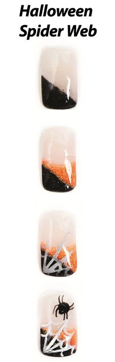 Halloween Spider Web Nail Art Tutorial by NAILS Magazine