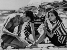 "Jeanne Moreau, Oskar Werner and Henri Serre, ""Jules et Jim"" by Francois Truffaut (1962)."