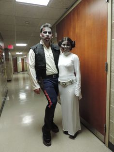 Zombie Princess Leia and Han Solo from Star Wars. Emily Nicole makeup artist. Maryland, Washington D.C., and Virginia makeup artist.
