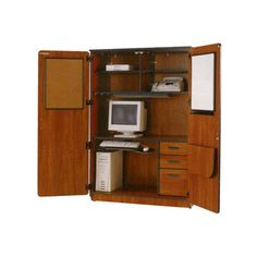 fleetwood illusions armoire desk with locking doors tv