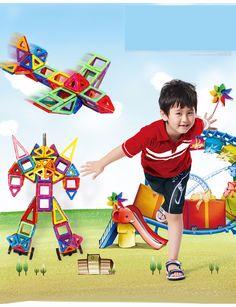 Mini 36Pcs/Lot Plastic Blocks Toys Models & Building Toy Magnet Blocks DIY Learning Educational Toys Bricks Magnetic Kids Toys | Newest remote control toys shop