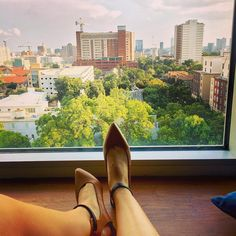loving this shot of @waggy_mat and her #fortressofinca Mariana ankle strap flats overlooking the city