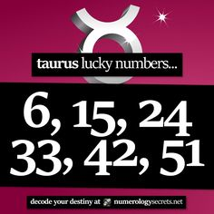 #Taurus lucky numbers... ⭐