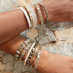 bracelets in fall hues at Judith Bright