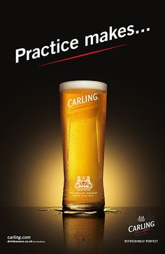 Carling Practice makes... Photographed by Jonathan Knowles