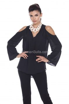 21e36d3bf4840 We like this top from Tesoro Moda because it looks equally as good with  jeans or an evening skirt.