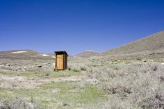 Lonely outhouse