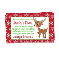 "Santa's #Magic #Reindeer #Food #Tags #Red #Set of #15 #Kids #Christmas #Elves #Gift #Labels #15 pc. #Set, Size 2"" by 3.5"" Perfect for adding your own ribbon & hole Great for all ages https://food.boutiquecloset.com/product/santas-magic-reindeer-food-tags-red-set-of-15-kids-christmas-elves-gift-labels/"