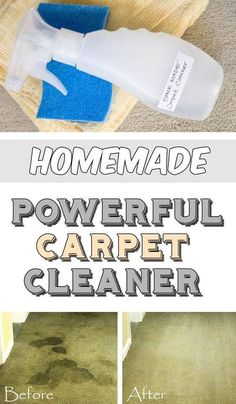 Homemade powerful carpet cleaner - myCleaningSolutions.com #greenpower