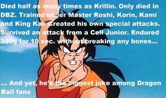 As funny as it is to make Yamcha jokes, he is still an awesome fighter.