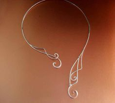 Elven Necklace Bridal Necklace Sterling Celtic Torc door ElnaraNiall, $149.99