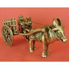 Brass Bullock Cart,Handicrafts,Home Decor,Gift,Miniature show piece,collectible