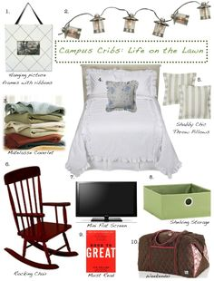Life on the Lawn... Get Preppy College Dorm Room Ideas like this on Uscoop.com!