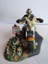 Department Dept 56 Bone To Be Wild Halloween Ghost Rider Motorcycle decorations