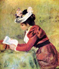 "Pierre Auguste Renoir  ""Femme Lisant"" or Woman Reading"