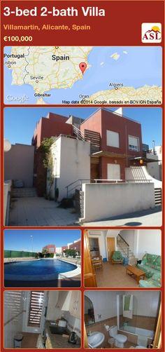 3-bed 2-bath Villa in Villamartin, Alicante, Spain ►€100,000 #PropertyForSaleInSpain