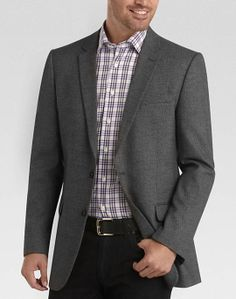 Andrew Fezza Black and White Modern Fit Sport Coat