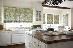 #Kitchen with fresh #white and #green