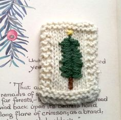 Embroidered brooch hand knitted by Laviniaslegacy on Etsy