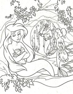 Little Mermaid Ariel Coloring Pages. Print for girls, beautiful images   303x236